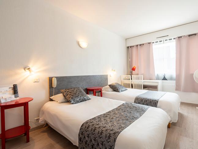 Chambre Twin à 2 lits jumeaux de 84 à 98 euros